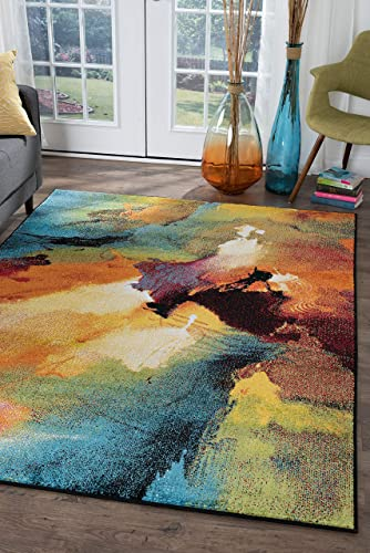Tayse Vida Multi-Color 8×10 Rectangle Area Rug