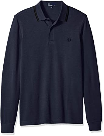 90491639 Amazon.com: Fred Perry Men's Long Sleeve Twin Tipped Shirt: Clothing