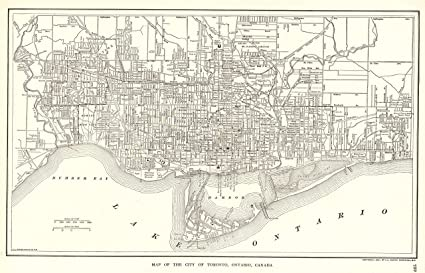 Amazon.com: 1914 Antique Toronto Map Original Vintage Map of Toronto ...