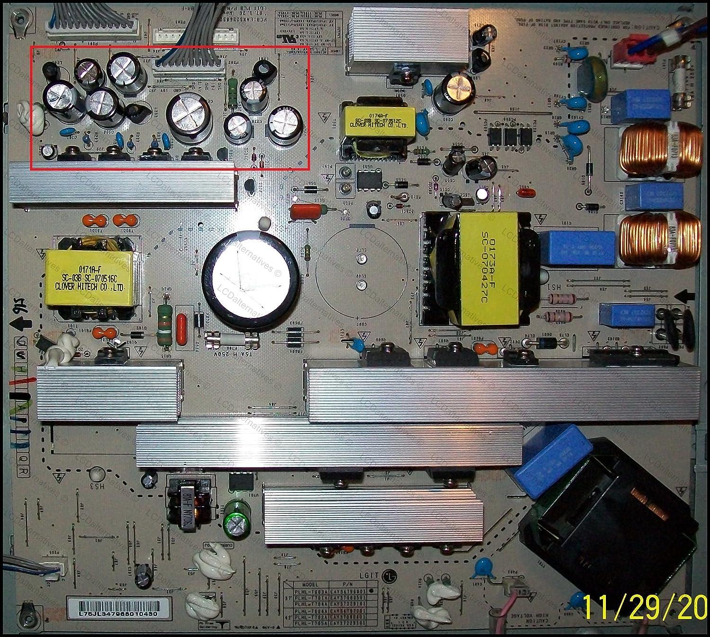 Kit de reparación, LG 37LC7D, monitor LCD, condensadores, no toda ...