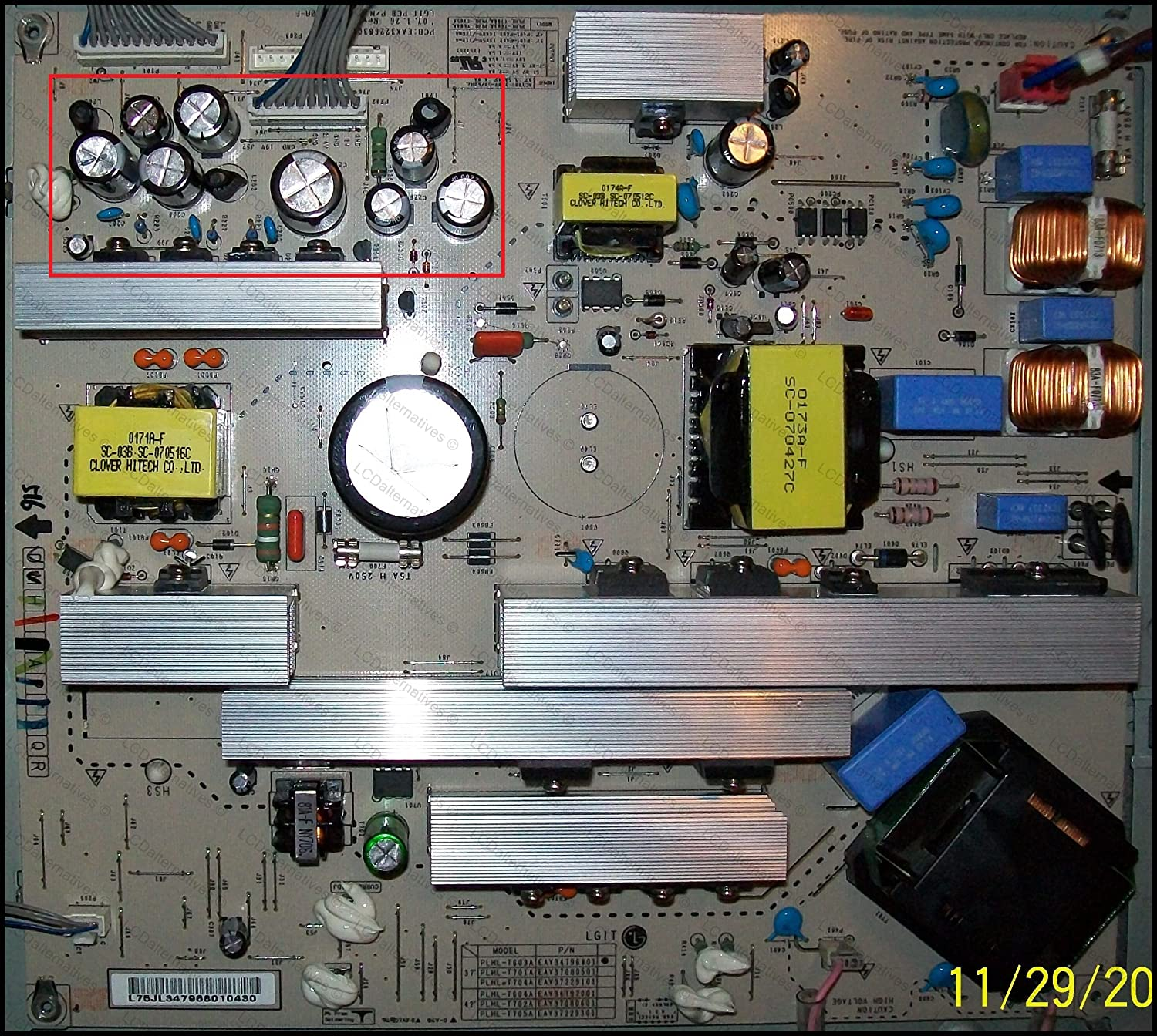 Repair Kit Lg 37lc7d Lcd Monitor Capacitors Not The Figure 2 Block Diagram Of An Tv Power Supply Entire Board Electronics