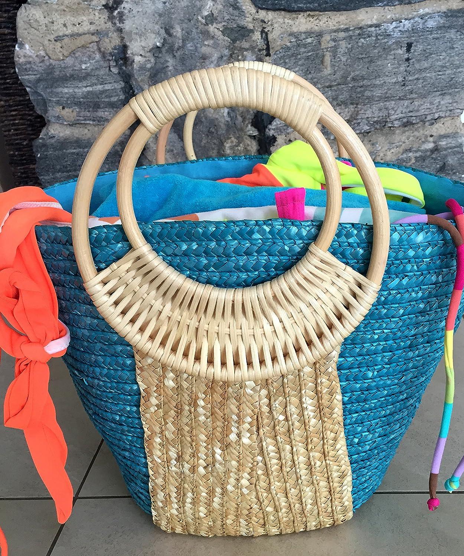 Beach Glam Tropical Straw Summer Totes