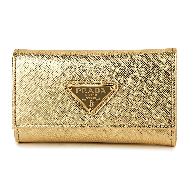 プラダ(PRADA) キーケース 1PG222 QHH F0522 サフィアーノ トライアングル ゴールド 金 [並行輸入品] B075K6ZTMF