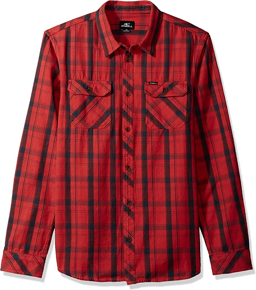 Red Faded Button Up