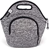 LunchFox Neoprene Lunch Bag (The Original) Ultra-Thick Insulated, Heather Grey Melange - The Silver Lake
