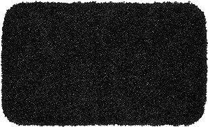 Garland Rug Serendipity Shaggy Washable Nylon Rug, 24-Inch by 40-Inch, Black