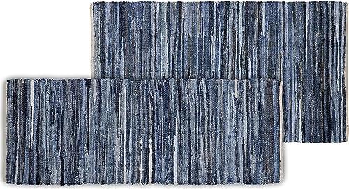 Chesapeake Accent Rug, 36 x 60 24 x60 , Denim