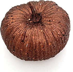 "Worlds 6""in Brown Glitter Pumpkin for Halloween Thanksgiving Party Decorative"