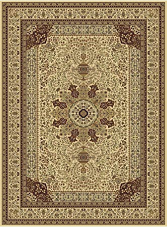 Silk Persian Large Rug 8x12 Traditional Area Rugs Carpet Ivory Cream Living