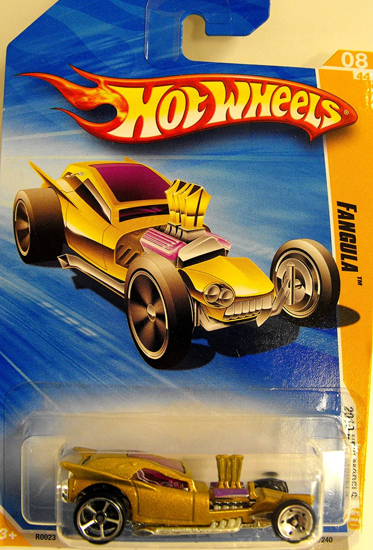 Gold Fangula Mattel Hot Wheels Cars 2010