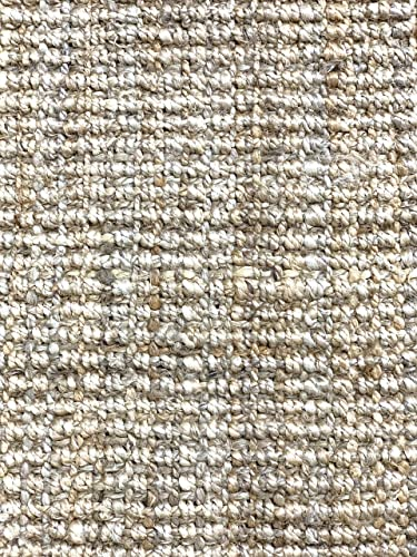 Elyson Chunky Jute Textured Handmade Area Rug, Living Room, Natural Fiber bio Friendly 8×10 FT, Natural