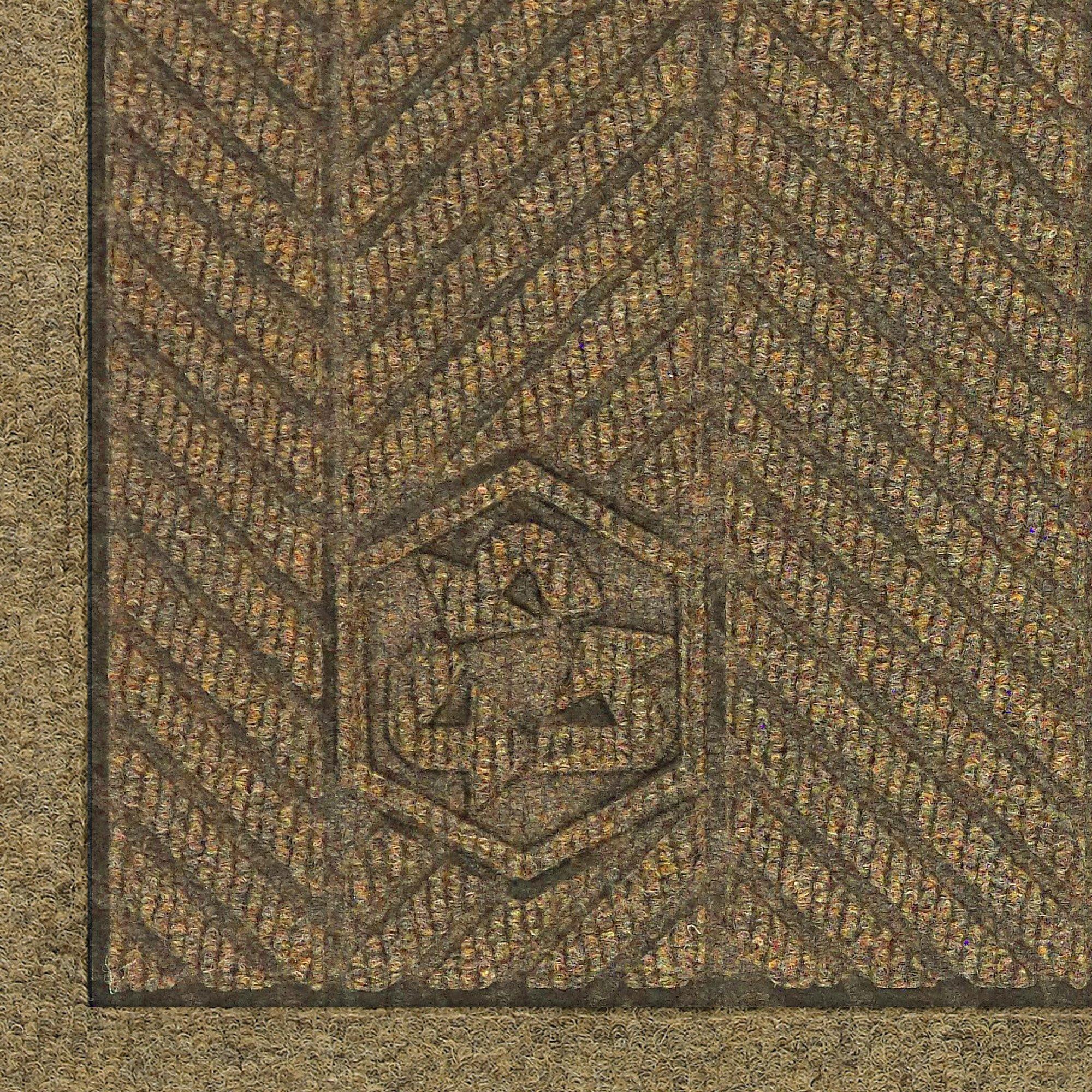 M+A Matting 2241 Waterhog Fashion ECO Elite PET Polyester Entrance Indoor Floor Mat, SBR Rubber Backing, 6' Length x 4' Width, 3/8'' Thick, Khaki