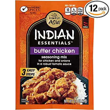 Simply Asia Indian Essentials Indian Essentials Butter Chicken Seasoning  Mix, 0.9 Oz (Case Of