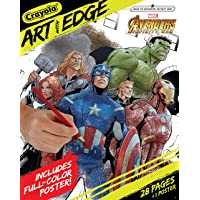 Crayola Marvel Avengers Coloring Pages,Infinity War, Art with Edge Adult Coloring, 30 Pages