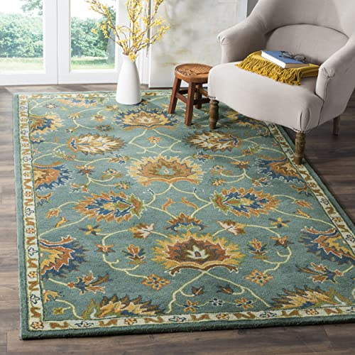 Safavieh Heritage Collection HG651A Handcrafted Traditional Light Blue Premium Wool Area Rug 8' x 10'