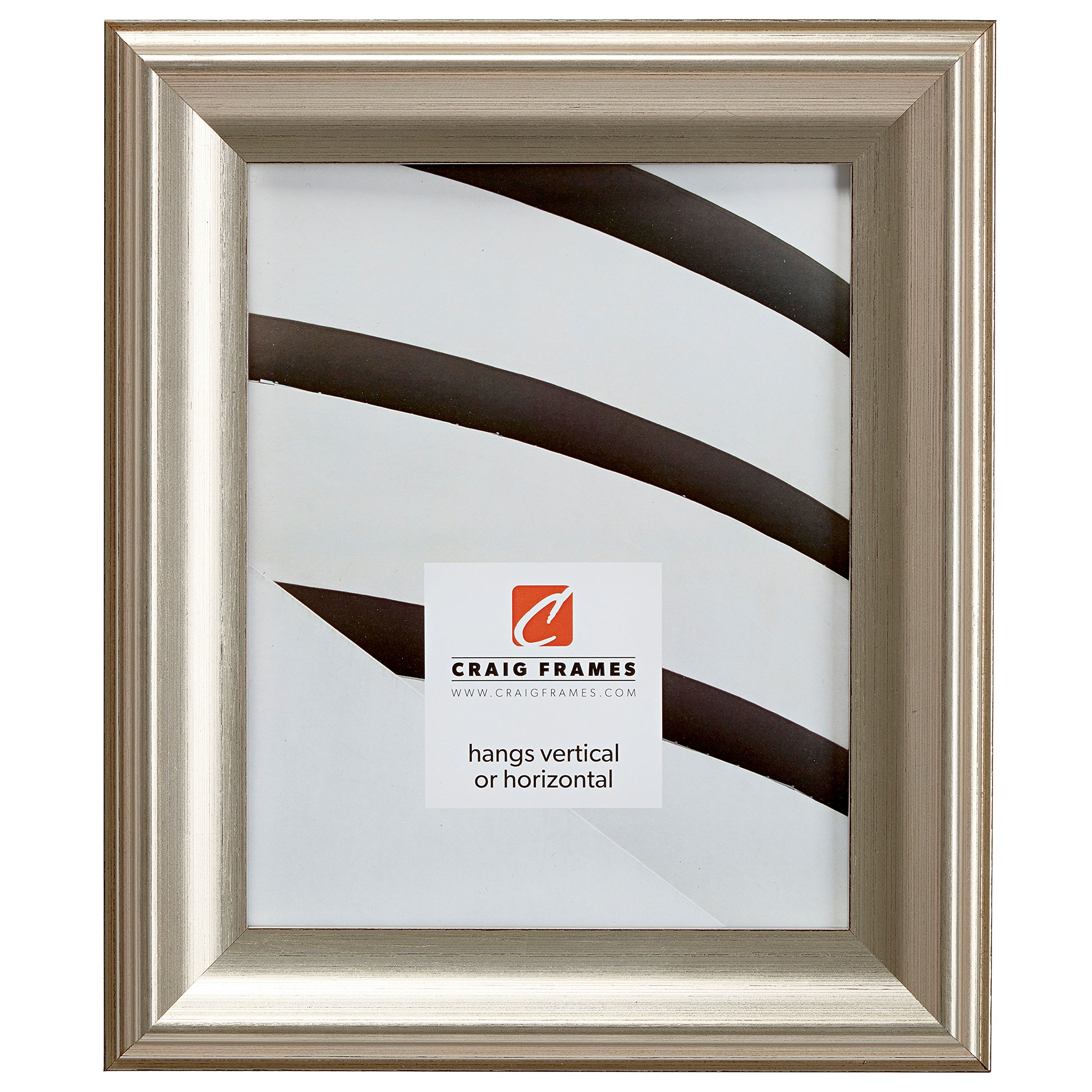 13x17 Picture / Poster Frame, Smooth Brushed Finish, 1.82'' Wide, Silver and Black (9005)