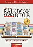 KJV Rainbow Study Bible, Maroon Leathertouch, Indexed
