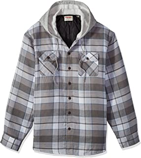 Wrangler Authentics Mens Long Sleeve Quilted Line Flannel ...