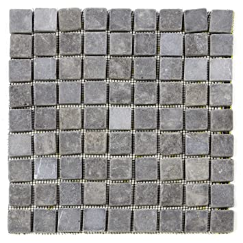 DIVERO 1 Matte 30 X 30cm Marmor Naturstein Mosaik Fliesen Für Wand Boden  Quadratisch Grau