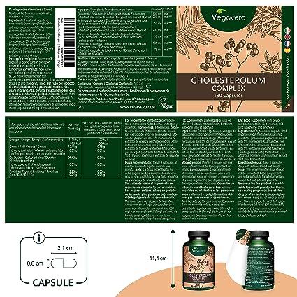 Levadura Roja de Arroz Vegavero® | Colesterol + Hígado | SIN ESTEARATO DE MAGNESIO | Monacolina K + Espino Blanco + Fitoesteroles + Berberina + ...