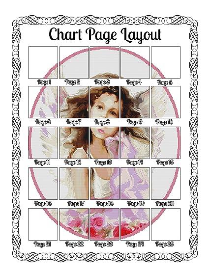 Amazon.com: Angelica Cross Stitch Pattern - Modern Cross Stitch ...