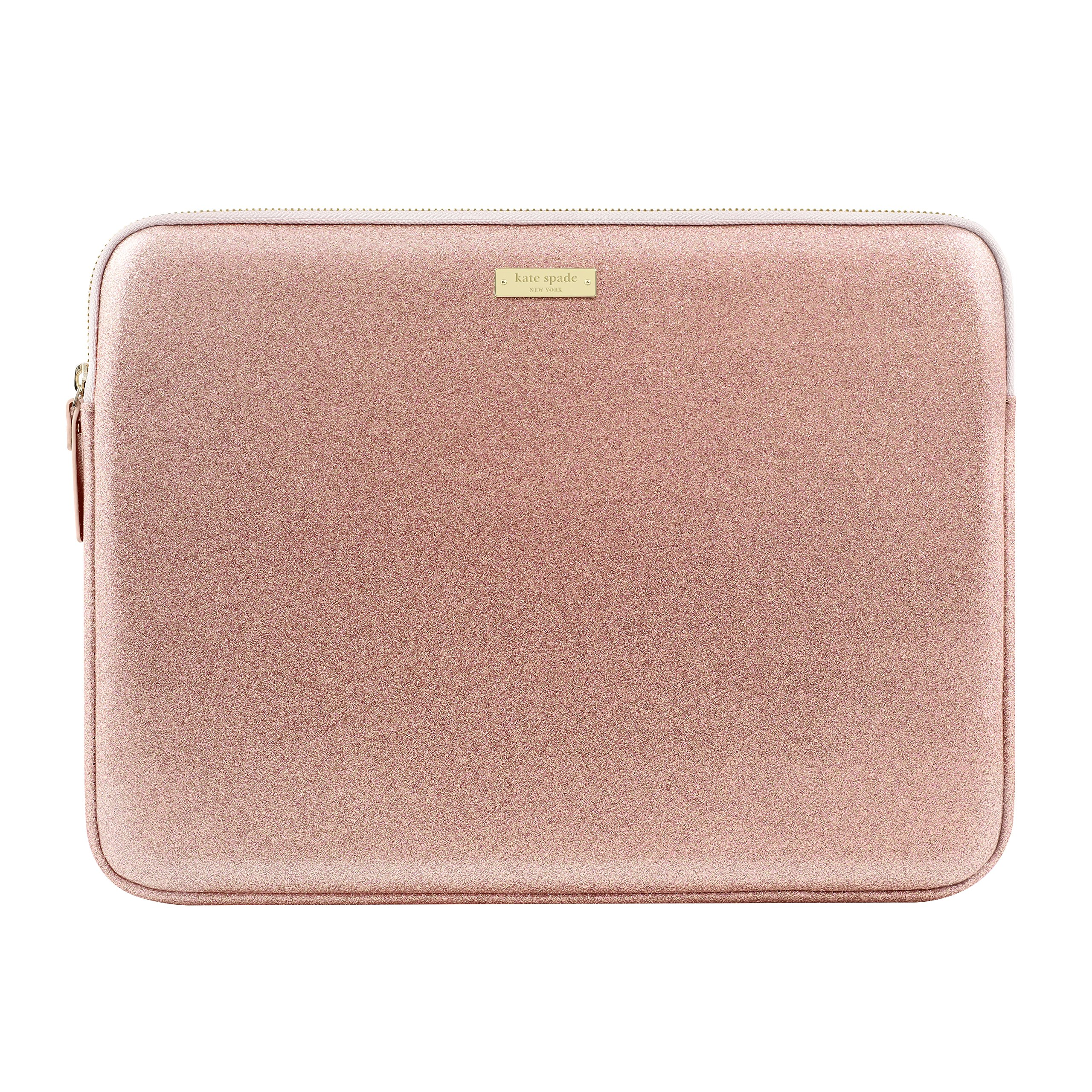 kate spade new york Sleeve for 13'' MacBook, 13'' Laptop - Rose Gold Glitter by Kate Spade New York