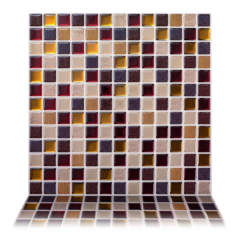 Shop amazon decorative tiles tic tac tiles 12 x 12 premium anti mold peel and stick wall dailygadgetfo Images