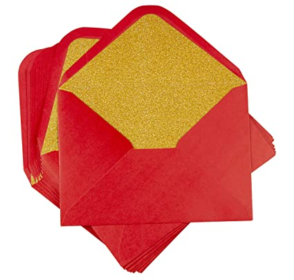 amazon com a7 luxurious envelope 24 pack red invitation