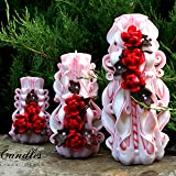 Candles - Unity candle - Carved candles - Decor - Home gift - Christmas candles