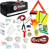 Always Prepared 149-Piece Roadside Assistance Auto Car Emergency Kit with Jumper Cables, First Aid Kit Items w/Medicine, and Critical Survival Items Included
