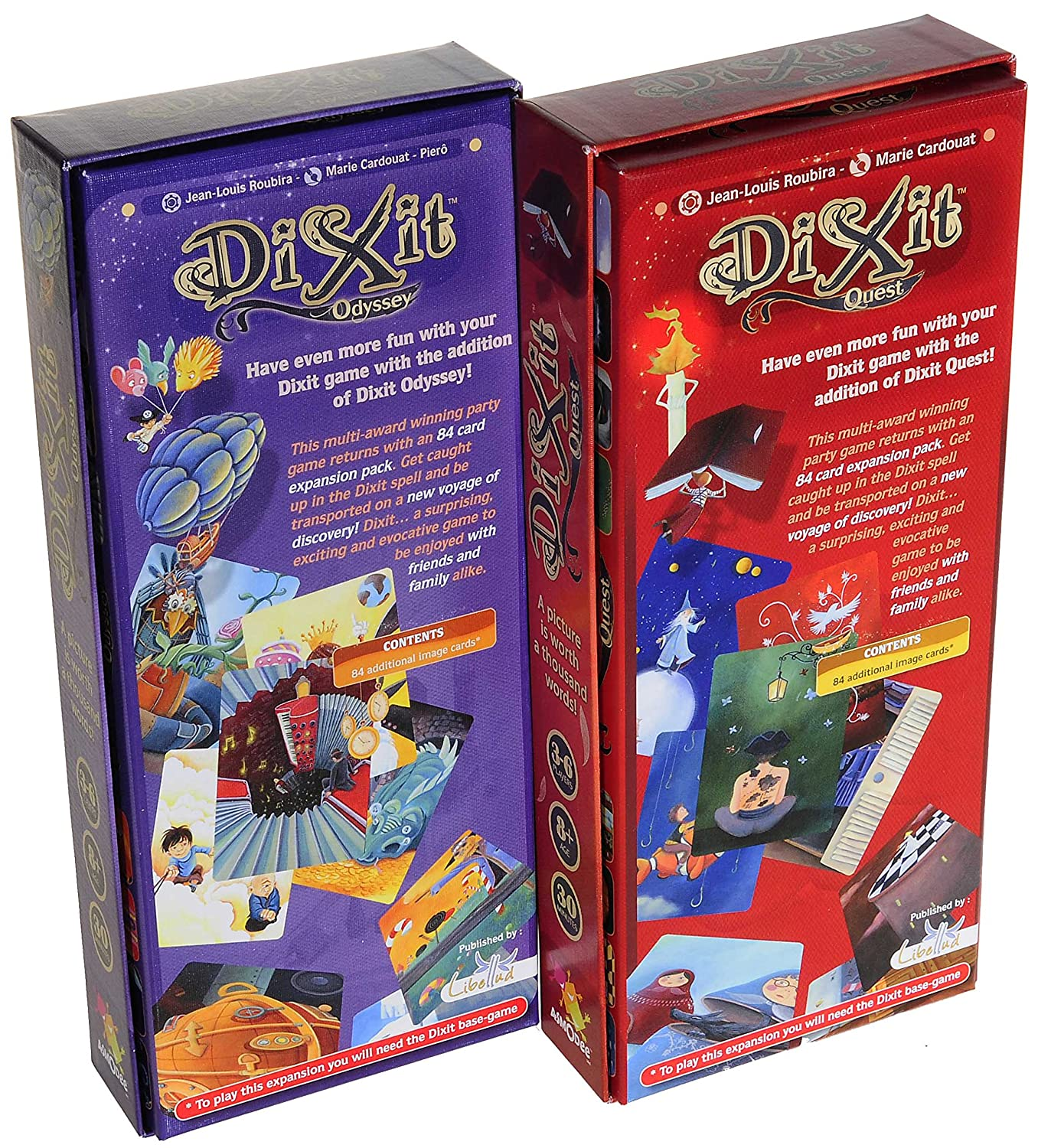 Asmodee Dixit Odyssey & Dixit Quest Expansiones_ Dos expansiones ...