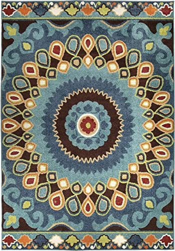 Orian Rugs Indo China Area Rug, 9 x 13 , Admiral Blue