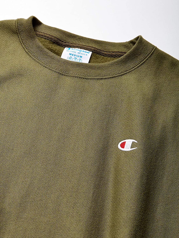 Champion LIFE Men's Reverse Weave Crew-Small Left Chest C: Clothing