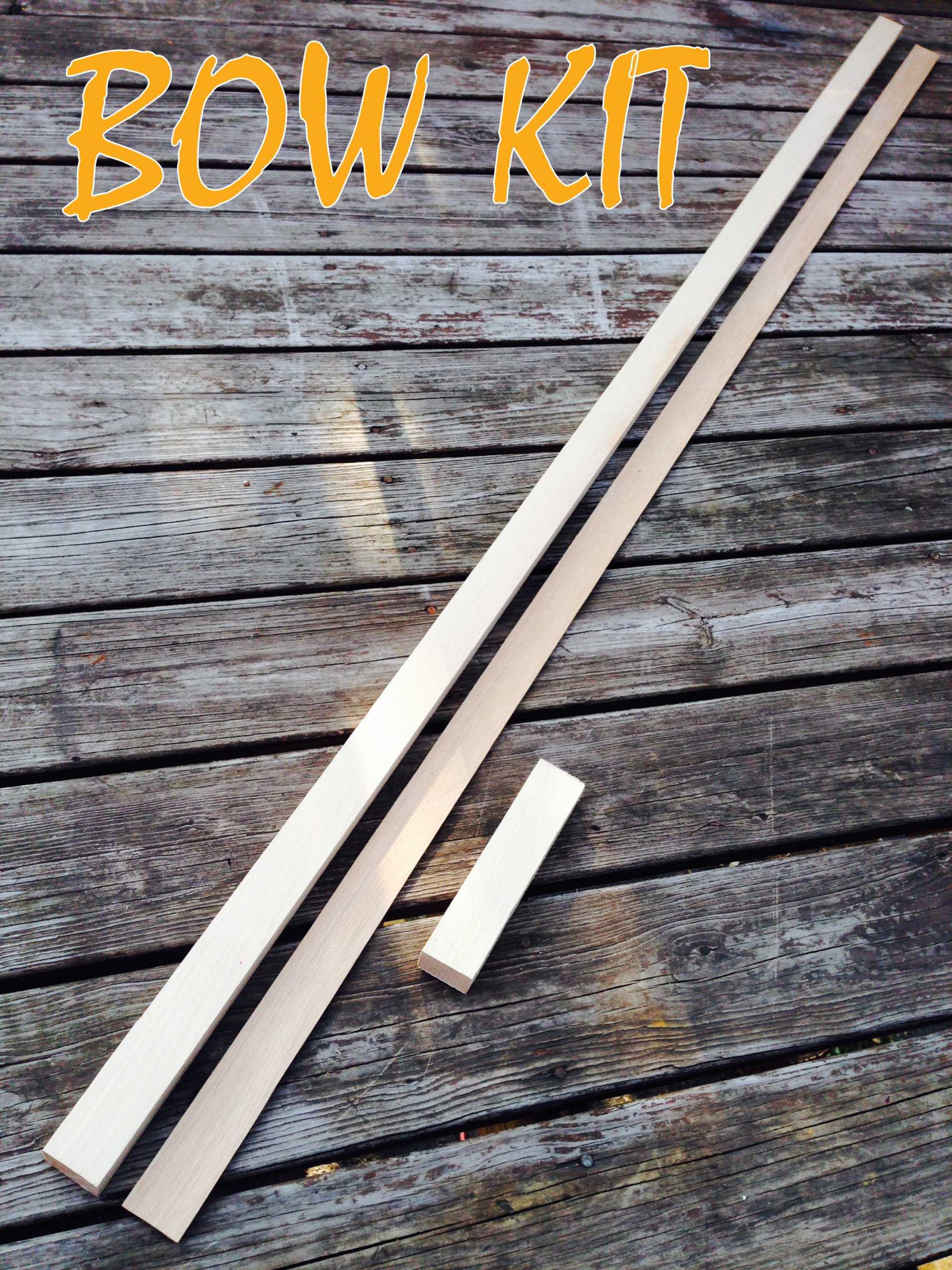 Hickory Bow Kit! Premium Grain! Perfect for Hickory Bows! Custom Wood Archery!