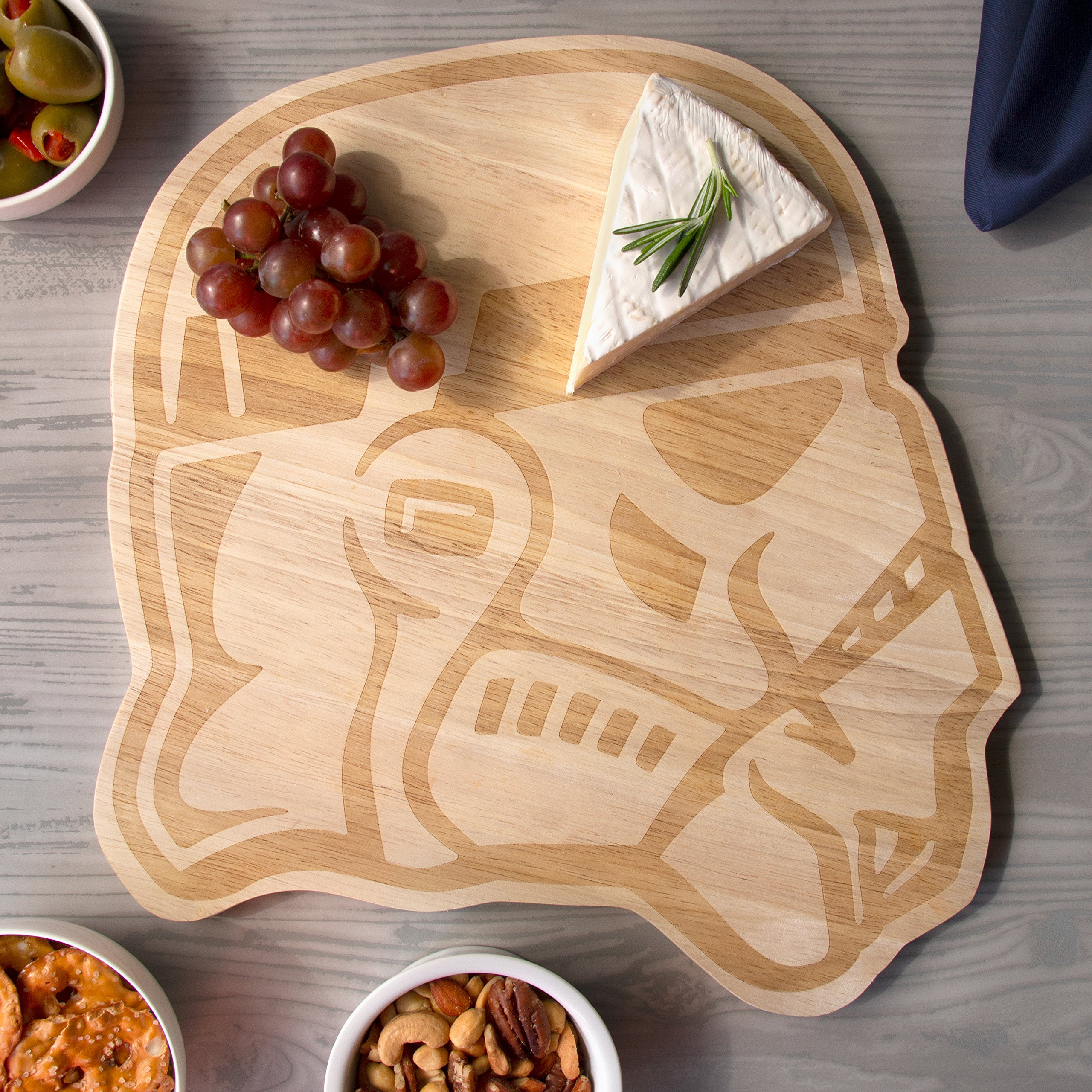 Star Wars Stormtrooper Wood Cutting Board - Perfect for Serving and Parties - 12 1/2'' x 13'' by Star Wars (Image #5)