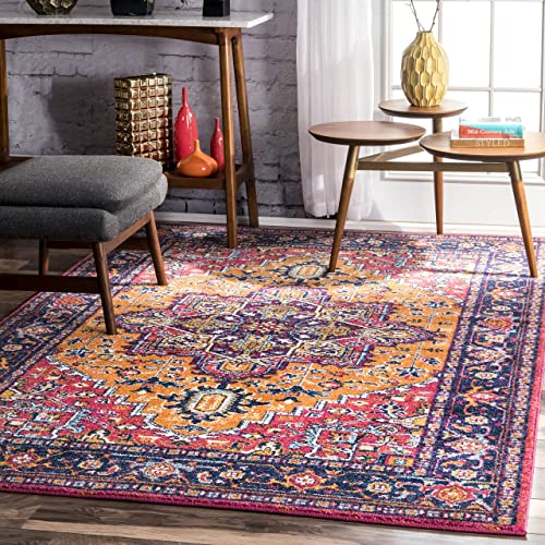 nuLOOM 200RZBD32B-5075 Vonda Fancy Persian Area Rug, 5 x 7 5 , Orange