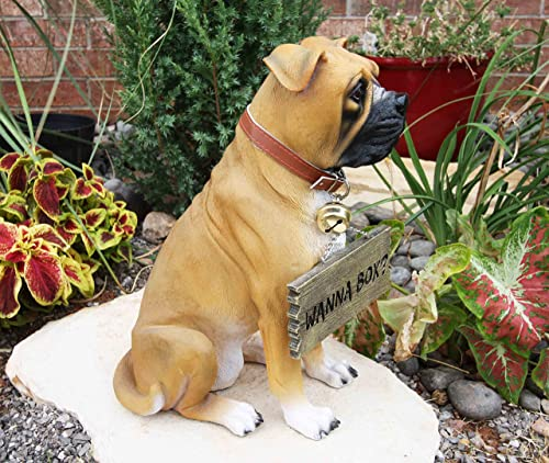 Ebros Large Adorable Fawn Boxer Dog Guest Greeter Statue
