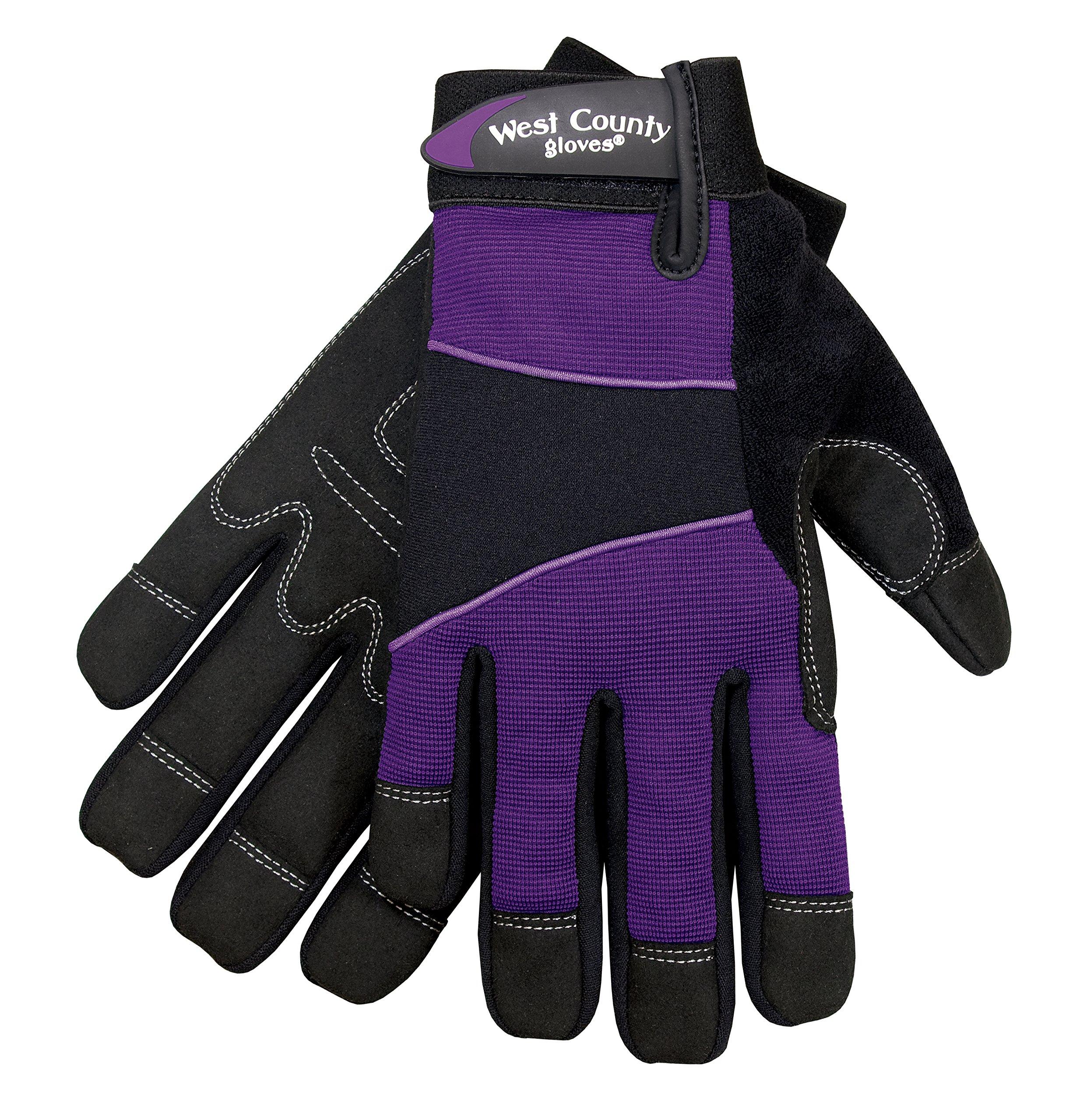 West County Gardener 012I/L Women's Work Glove, Large, Iris