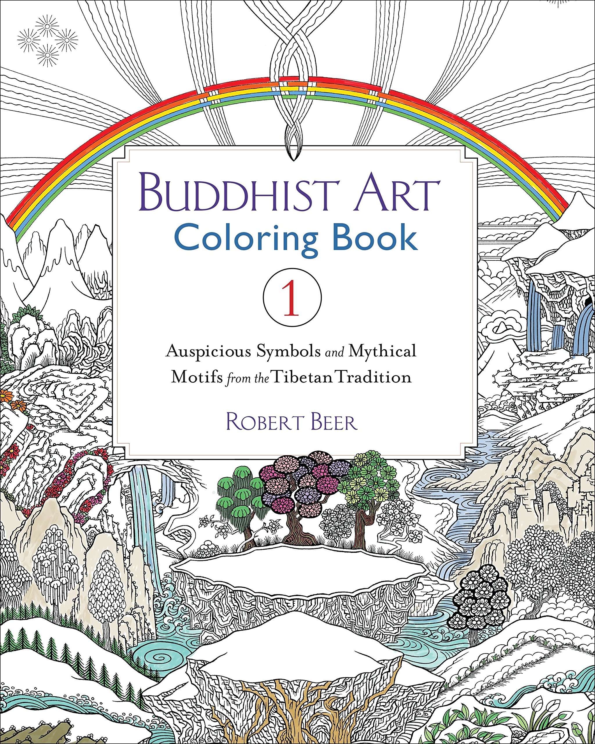 Buddhist Art Coloring Book 1 Auspicious Symbols And Mythical Motifs