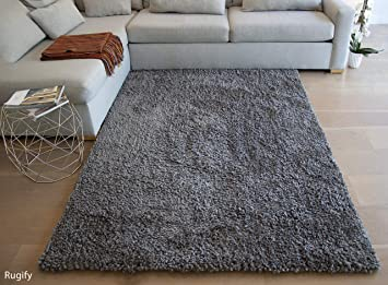 Amazon Com 5 X7 Feet Gray Grey Two Tone Color Contrast Shaggy