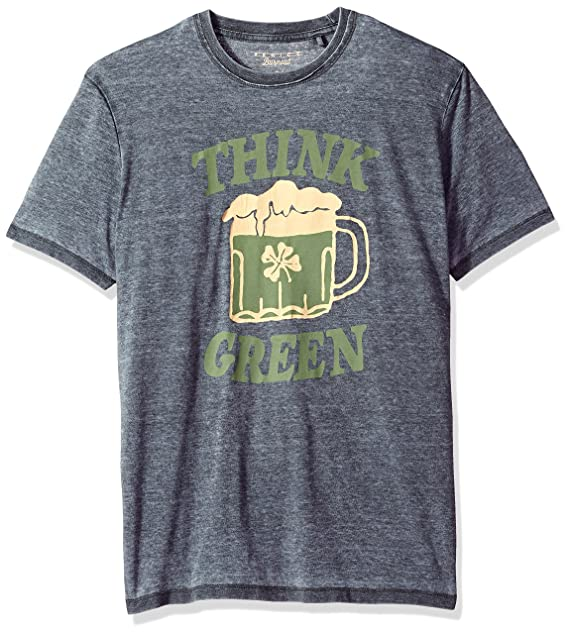 5ec93f8023 Lucky Brand Men's St Pats Day Green Beer Graphic T Shirt