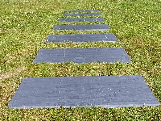 CassGarden - Baldosa de paso japonés rectangular de 80 x 30 cm. para sendero de jardín - Pack de 20 unidades: Amazon.es: Jardín