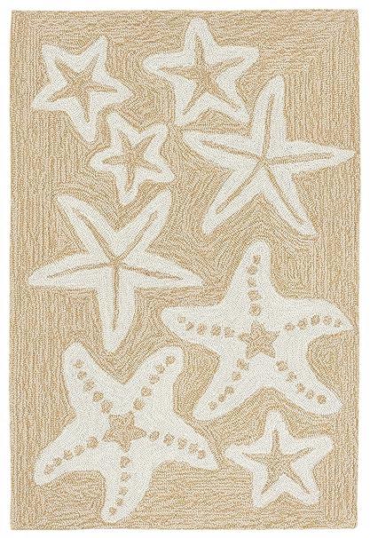 Amazon Com Liora Manne Monaco Sea Star Indoor Outdoor Rug 20 X 30