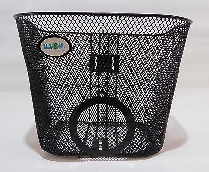 Basil Vorderradkorb mit Halterung Lampen-Aussparung Fahrrad Korb Vorne Einkaufsk
