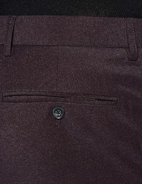 Label: 32W // 31L Burgundy Rojo 32W // 31L Hem /& Seam Pantalones Hombre Marca