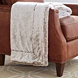 "Amazon Brand – Stone & Beam Faux Fur Throw Blanket, Soft and Luxurious, 80"" x 60"", Chocolate Brown"