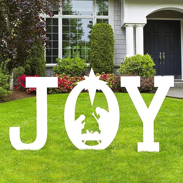 Christmas Joy Nativity Scene Yard Sign Decorations Xmas Outdoor Lawn Decor Assembly Needed Amazon Com Au Lawn Garden