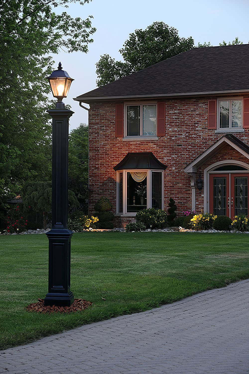 Amazon mayne 5837 bk signature lamp post decorative post only amazon mayne 5837 bk signature lamp post decorative post only black home improvement aloadofball Image collections