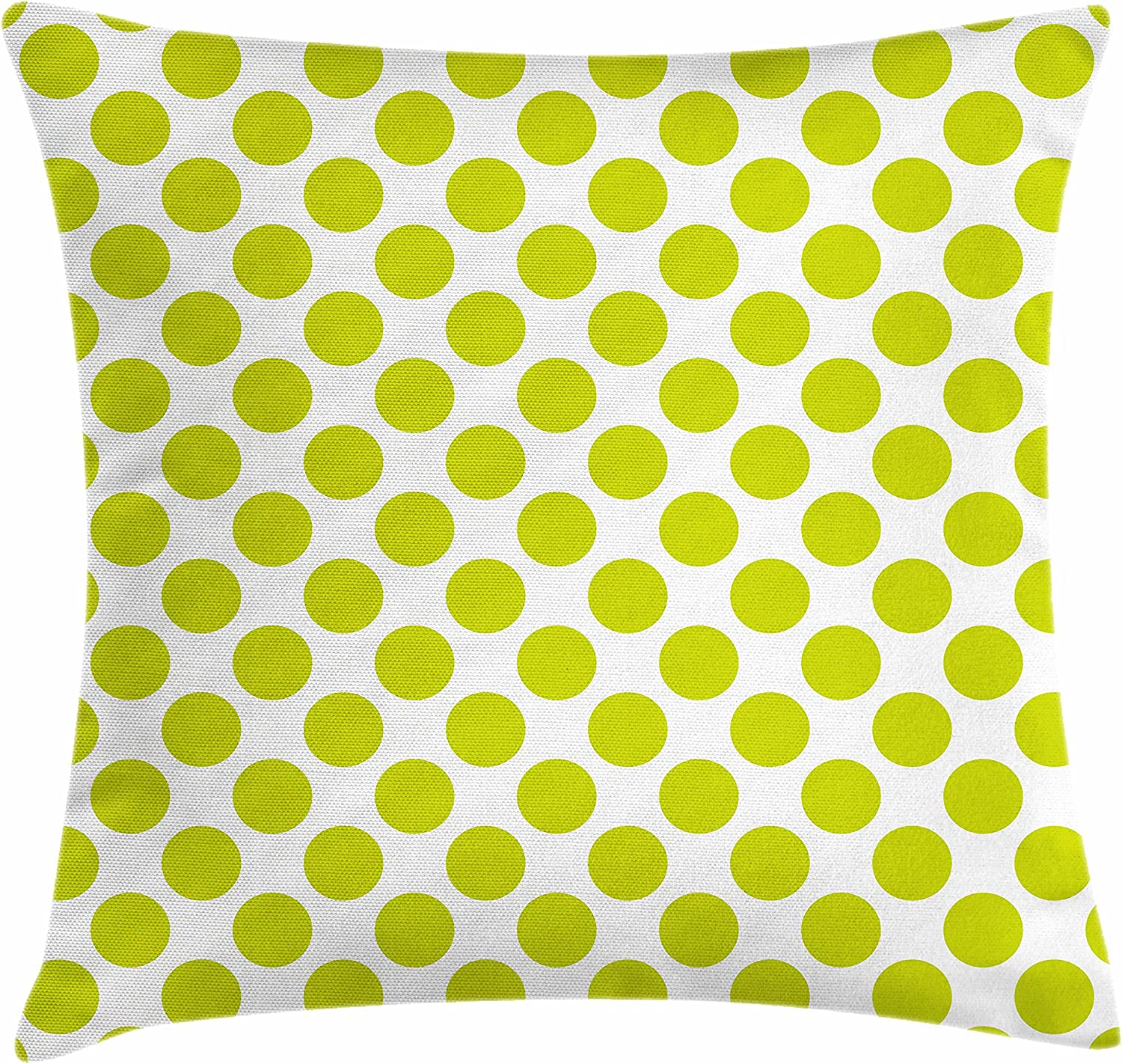 Ambesonne Lime Green Throw Pillow Cushion Cover Nostalgic Polka Dots Style Large Circles Girlish Vintage Rounds Pattern Decorative Square Accent Pillow Case 28 X 28 White Apple Green Home Kitchen Amazon Com
