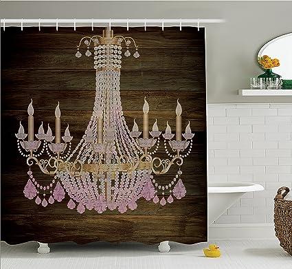 Amazon.com: Rustic Wooden Planks Crystal Chandelier Fashionable ...